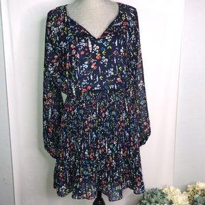 Tahari floral midi dress.  NWT